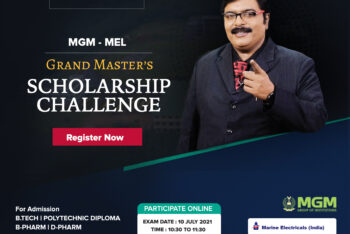 MGM – MEL ( Marine Electricals India Ltd.)GRAND MASTER'S SCHOLARSHIP CHALLENGE, Participate Online with Dr. G.S Pradeep